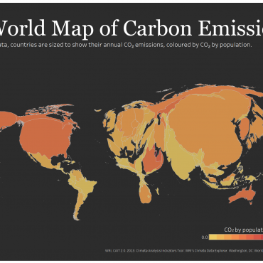 A world Map of CO2 Emissions